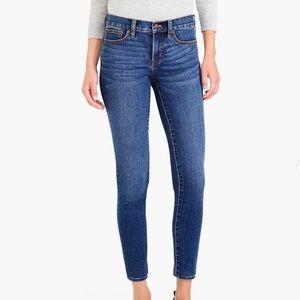 J. Crew Mid Rise Skinny Jeans in Rockaway Wash